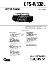 Buy Sony CFS-W338L Service Manual by download Mauritron #238986