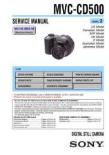 Buy Sony MVC-CD500 Service Manual. by download Mauritron #242991