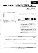 Buy Sharp 63CS05S-70CS05S Service Manual by download Mauritron #207886