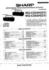 Buy Sharp. WQCD54H-55H_SM_GB-DE-FR(1) Service Manual by download Mauritron #21182