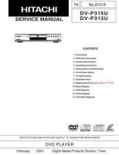 Buy Hitachi DV-P745E Service Manual by download Mauritron #261805