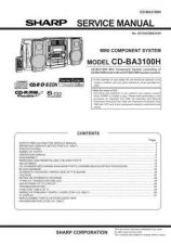 Buy Sharp CDBK3100W Service Manual by download Mauritron #208443