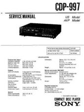 Buy Sony CDP-990 Service Manual by download Mauritron #237249