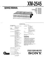 Buy Sony XM-2545 Service Information by download Mauritron #238337