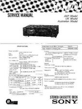 Buy Sony TC-K420 Service Manual by download Mauritron #233370