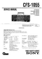Buy Sony CFS-1075S Service Manual by download Mauritron #238906