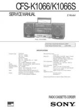 Buy Sony CFS-K1066-K1066S Service Manual by download Mauritron #238957