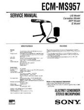 Buy Sony ECM-MS957 Service Manual by download Mauritron #231967