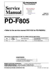 Buy PIONEER PDF805 RRV1687 Technical Information by download #119328