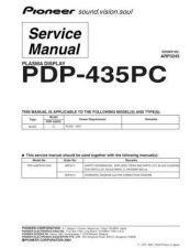 Buy Pioneer PDP-434PU-TUCK2] (2) Service Manual by download Mauritron #234993