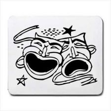 Buy Computer Mouse Pad Comedy Tragedy Actor Theater Masks