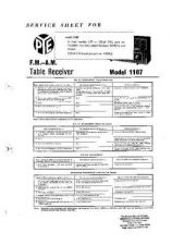 Buy PYE Model 1107 Table Receiver Service Manual by download #109079