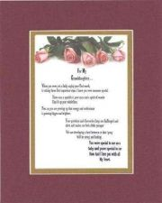 Buy Heartfelt Poem For Granddaughters - For My Granddaughter, with Love 11x14 mat