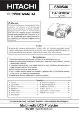 Buy Hitachi PJ-LC7_EL Service Manual by download Mauritron #263747