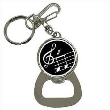 Buy Music Notes Treble Clef Keychain Bottle Opener