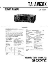 Buy Sony TA-AV650 by download Mauritron #245234