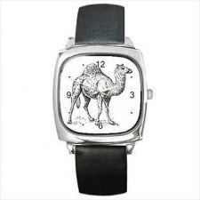 Buy Camel Black and White Unisex Square Wrist Watch