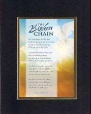 Buy Plaque for Bereavement - The Broken Chain . . 8x10 BackOnBlack Double Matting