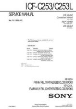 Buy Sony ICF-C253-C253L Service Manual. by download Mauritron #241541