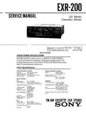 Buy Sony EXR-200 Service Manual by download Mauritron #240658