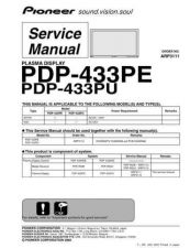 Buy Pioneer PDP-433HDG-TLDPBR[2] Service Manual by download Mauritron #234906