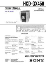 Buy Sony HCD-GX450 Service Manual by download Mauritron #232032
