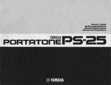 Buy Yamaha PS25E Operating Guide by download Mauritron #249257