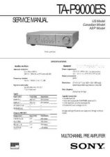 Buy SONY TC377 TAPE WSM A2099 MTS Technical Info by download #105297
