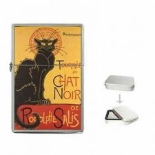 Buy Chat Noir Black Cat Fine Art Cigarette Flip Top Lighter