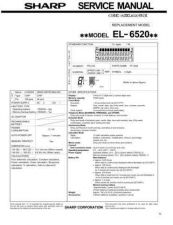 Buy Sharp EL-506R Technical Information by download Mauritron #232867
