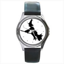 Buy Witch Flying On Broomstick Halloween Unisex Art Watch