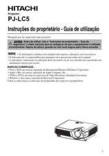 Buy Hitachi PJ-LC5 EL Manual by download Mauritron #225403