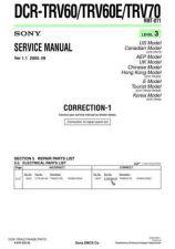 Buy Sony DCR-TRV940TRV940ETRV950TRV950E Technical Information by download Mauritron