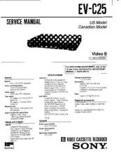 Buy Sony EV-C25 Service Manual by download Mauritron #240621