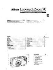 Buy NIKON Lite Touch Zoom 70 Instruction Manual by download Mauritron #266052