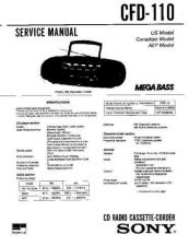 Buy Sony CFD-110 Manual by download Mauritron #229037
