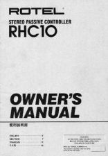 Buy ROTEL RHC10 Manual by download Mauritron #230401