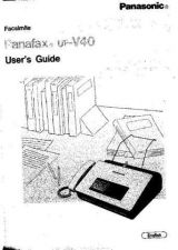 Buy Panasonic UFV40 Operating Instruction Book by download Mauritron #236687