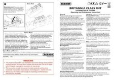 Buy Hornby Class 7MT Britannia Maintenance Sheets by download Mauritron #206713