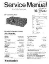Buy Panasonic RX-D27PL Service Manual by download Mauritron #268553