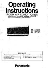 Buy Panasonic CS1273 Operating Instruction Book by download Mauritron #235968