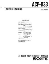 Buy Sony AC-V615 Manual by download Mauritron #228891