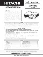 Buy Hitachi CPS210 Service Manual by download Mauritron #207261