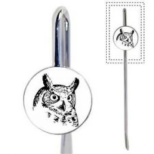Buy Horned Owl Art Metal Bookmark