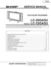 Buy Sharp LC26GD4U Service Manual by download Mauritron #209945