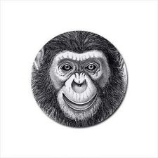 Buy Chimpanzee Monkey Face Art Set Of 4 Round Rubber Drink Coasters