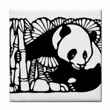 Buy Panda Bear Chinese Art Decorative Ceramic Tile