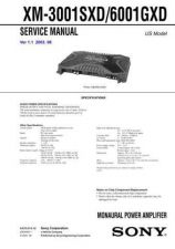 Buy Sony XM-3001SXD6001GXD.. Service Manual. by download Mauritron #245979