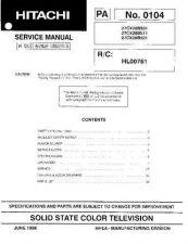 Buy Hitachi 27CX28B511 Service Manual by download Mauritron #262434