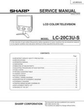 Buy Sharp LC20E1H-M (1) Service Manual by download Mauritron #209907